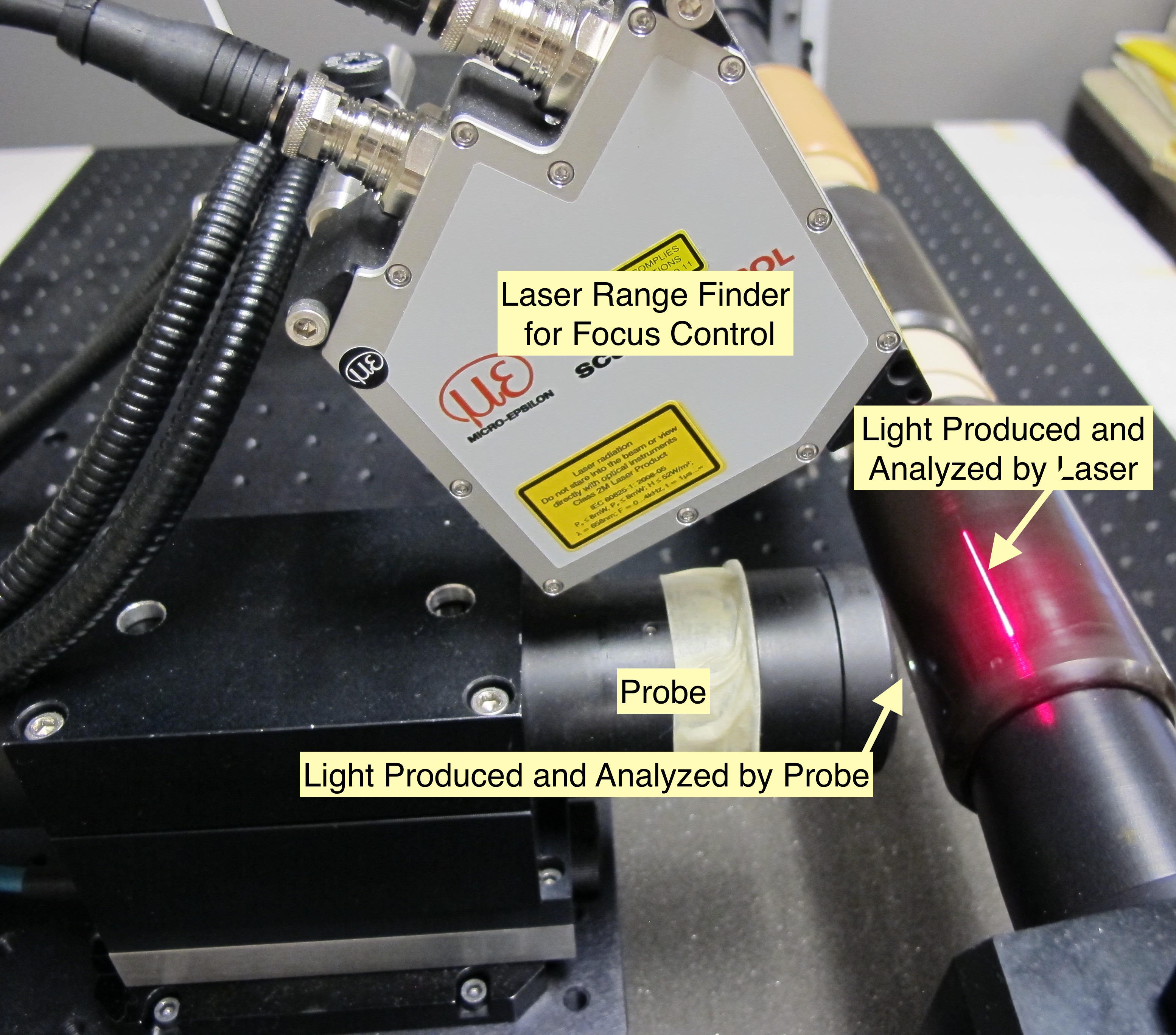 Laser and probe annotated